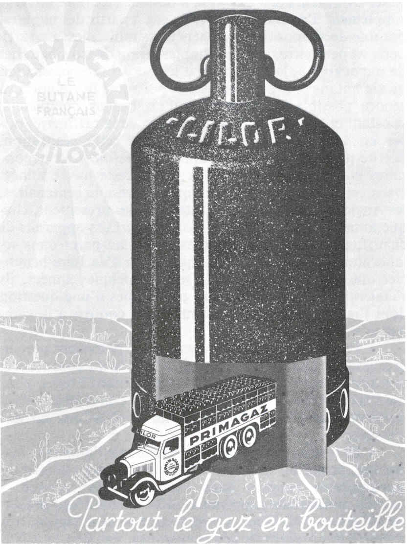 Affiche partout le gaz en bouteille