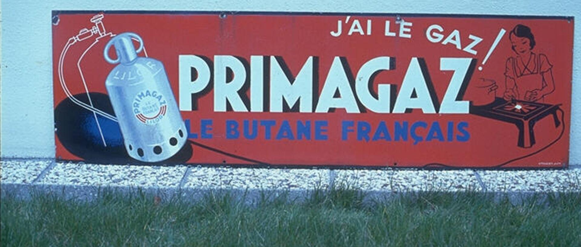 Affiche gaz butane français
