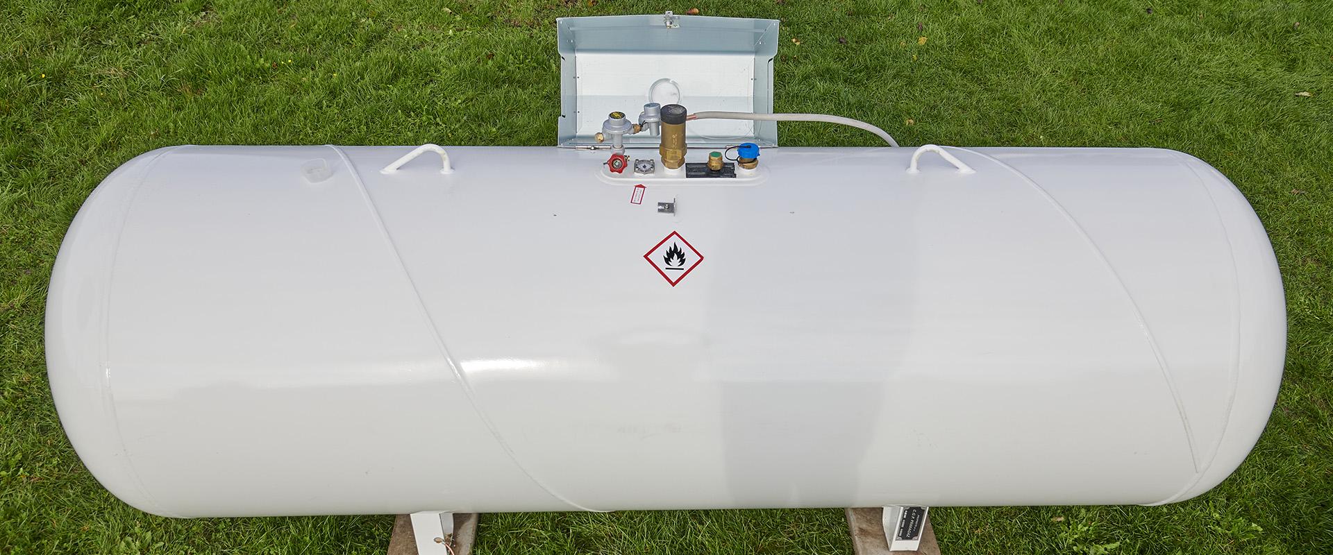Une citerne de gaz et ses équipements