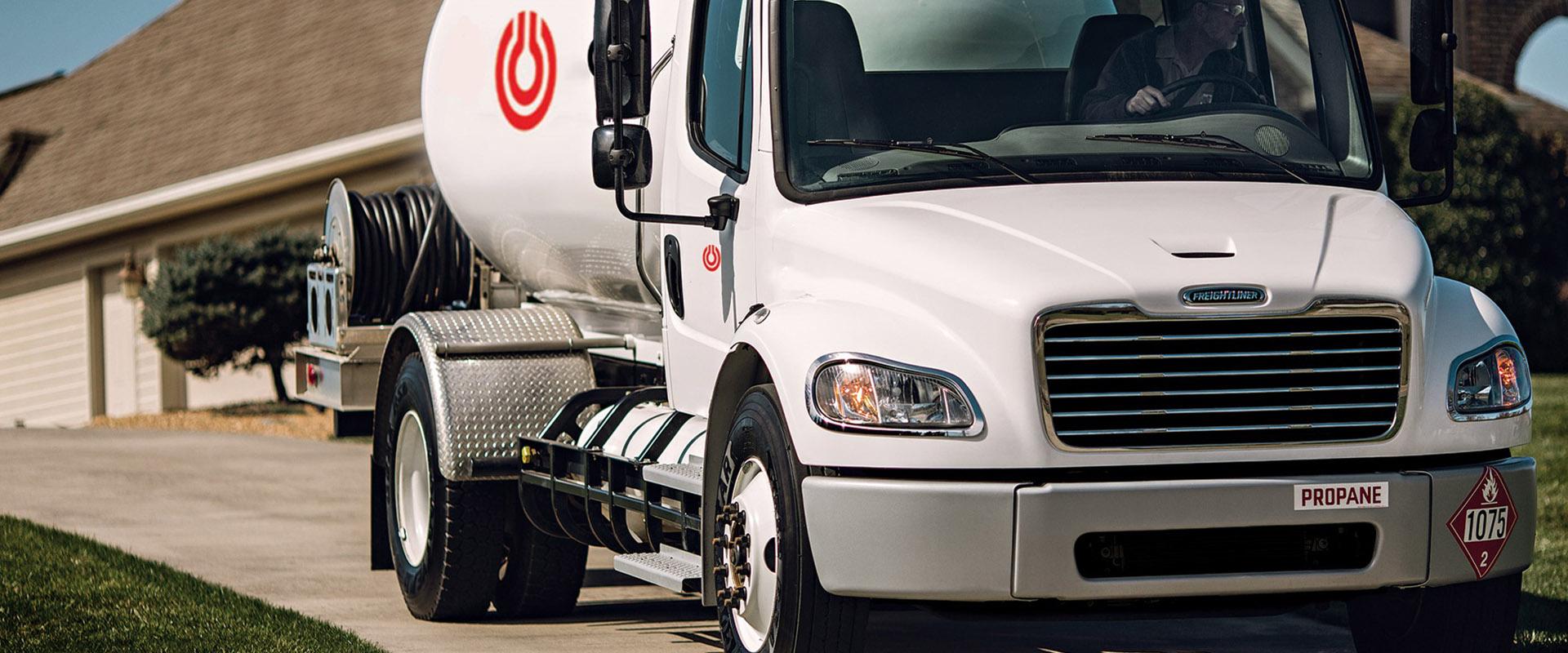 Camion de livraison de gaz propane
