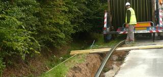 Travaux de gaz en réseau privé