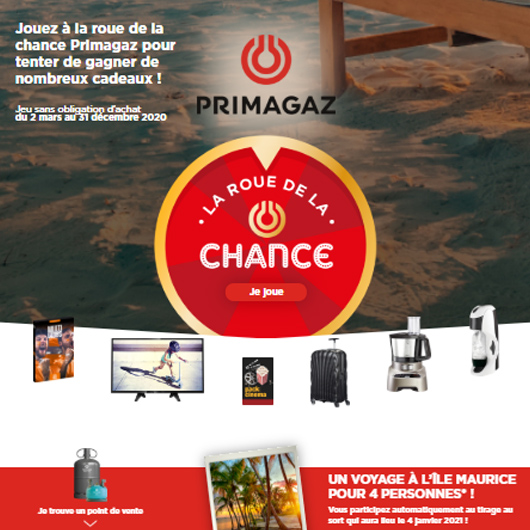 Grand jeu chance Primagaz 2020